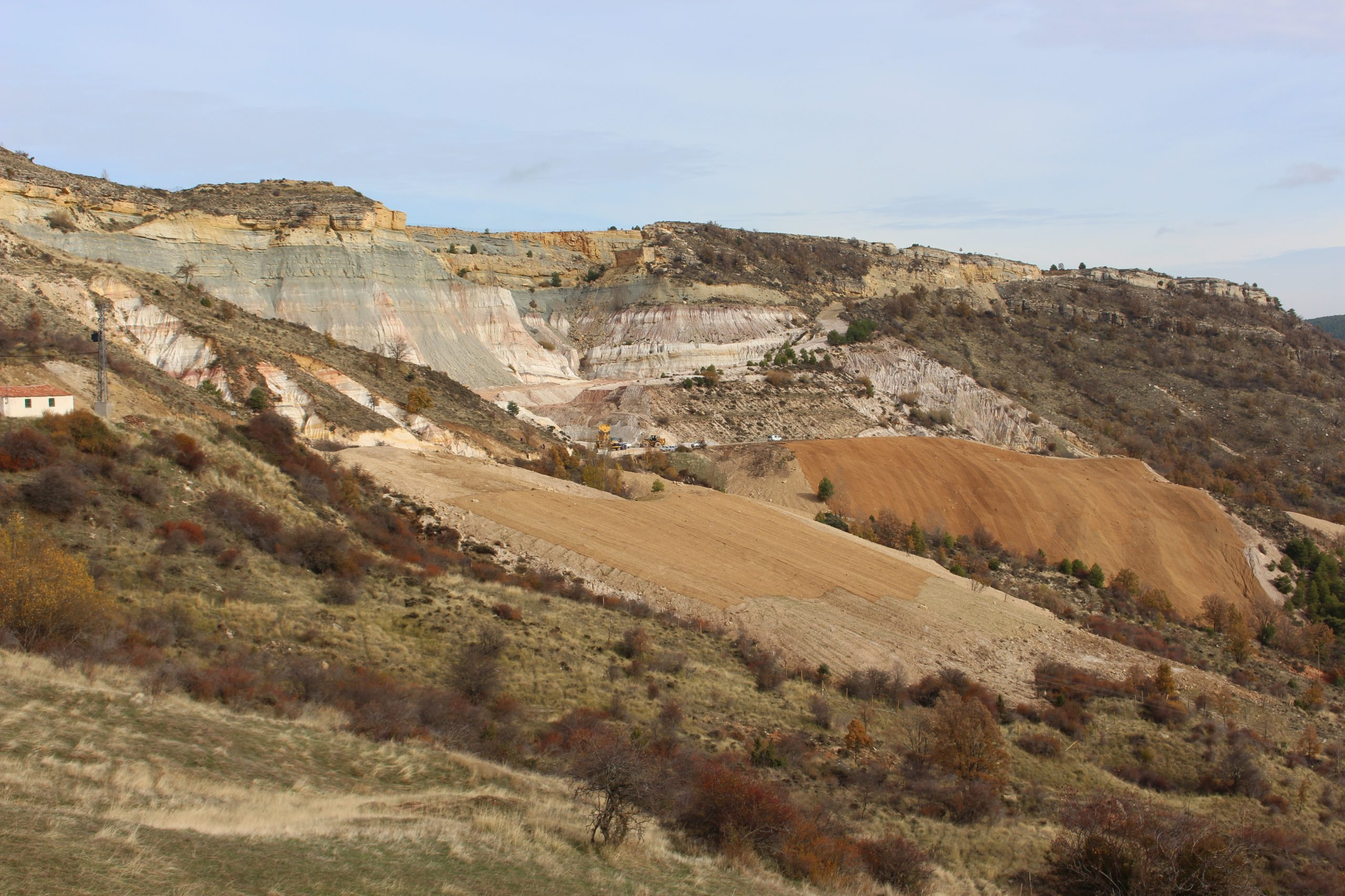 SANTA ENGRACIA MINE: CONCLUSION OF THE FIRST STAGE OF THE EXTERIOR HEAPS REVEGETATION
