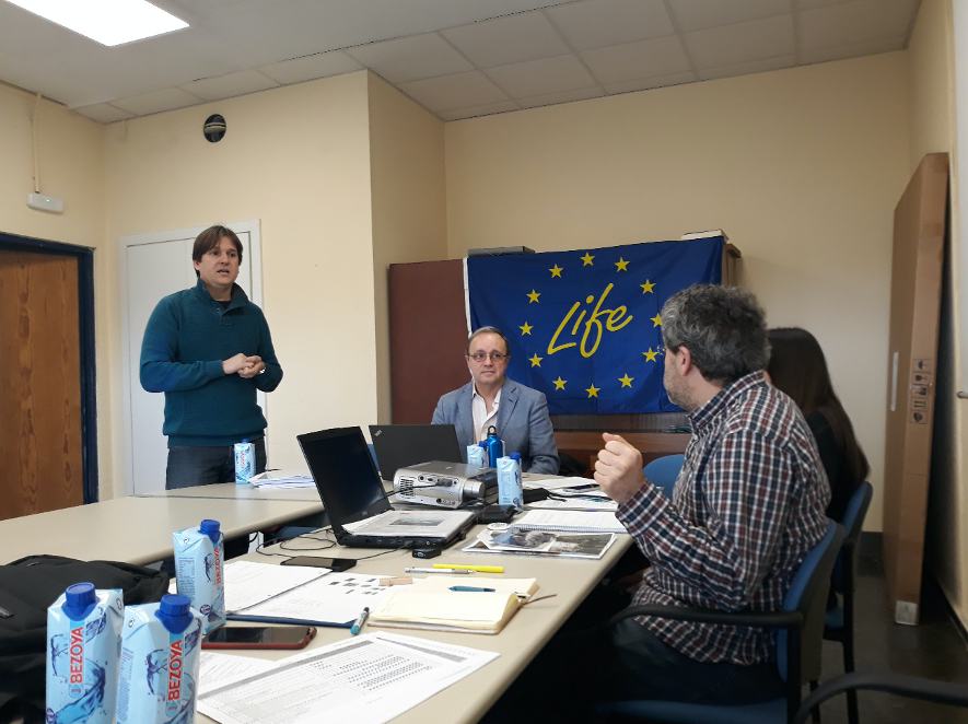 First meeting of the LIFE RIBERMINE project with the external monitoring team representative, Borja Domínguez (NEEMO-EASME) – March  5th 2020