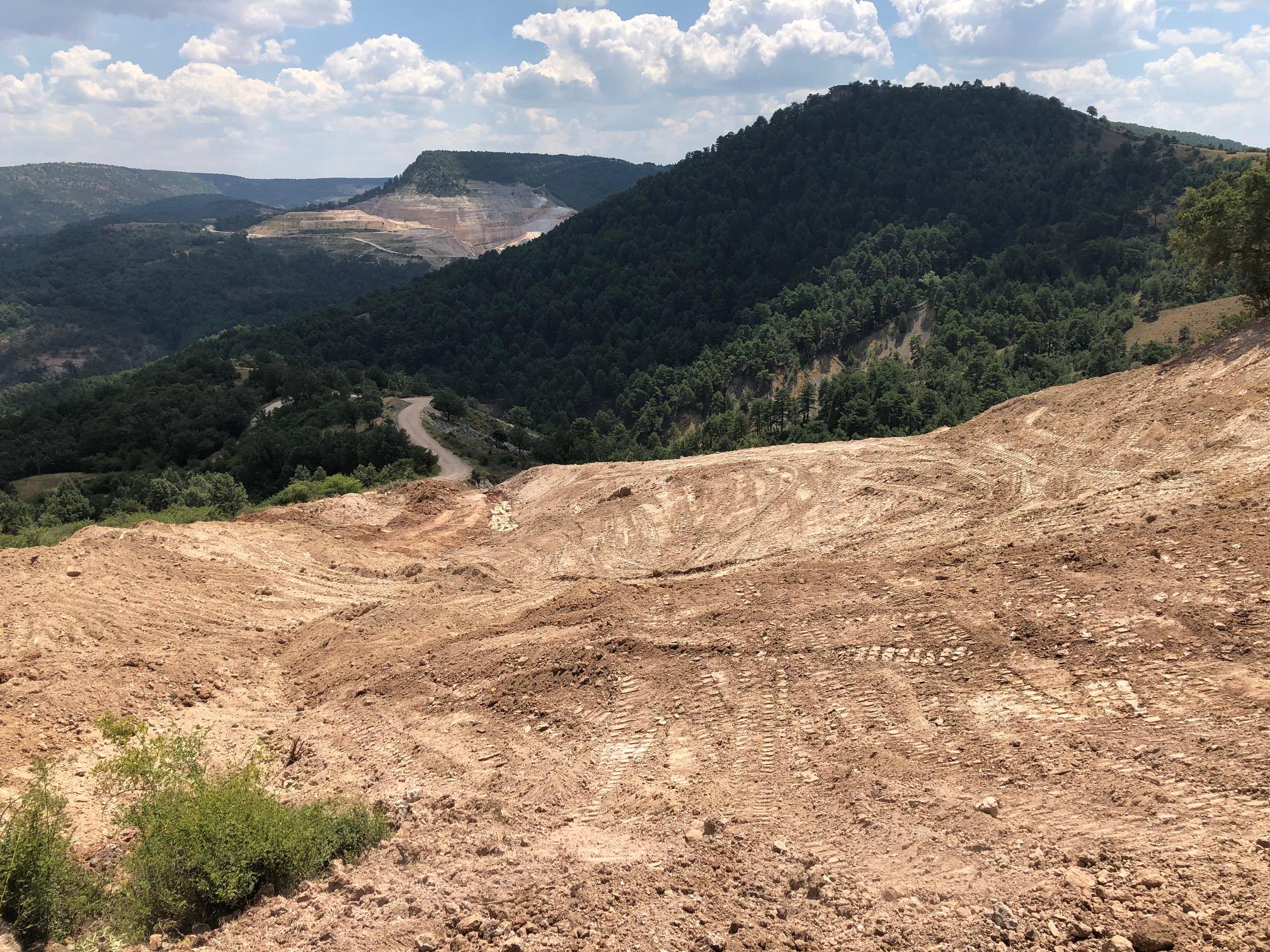 Início dos trabalhos de restauração na mina de Santa Engrácia (Peñalén) – julho 2020