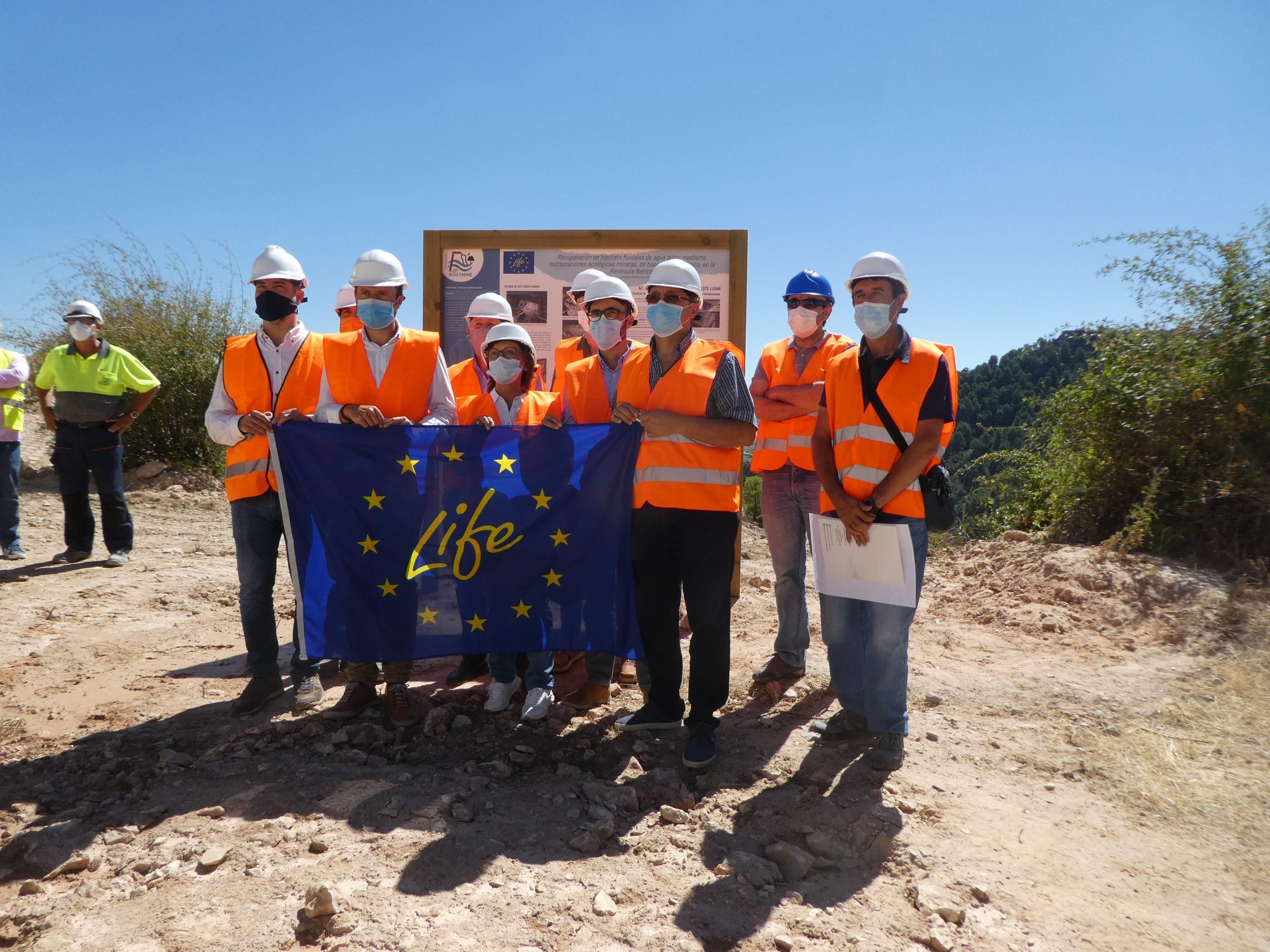 Projeto Europeu Life Ribermine, patrocinado pelo Governo de Castela-La Mancha, reconhecido entre as melhores práticas regionais em termos de energia e ação climática do Pacto Ecológico Europeu