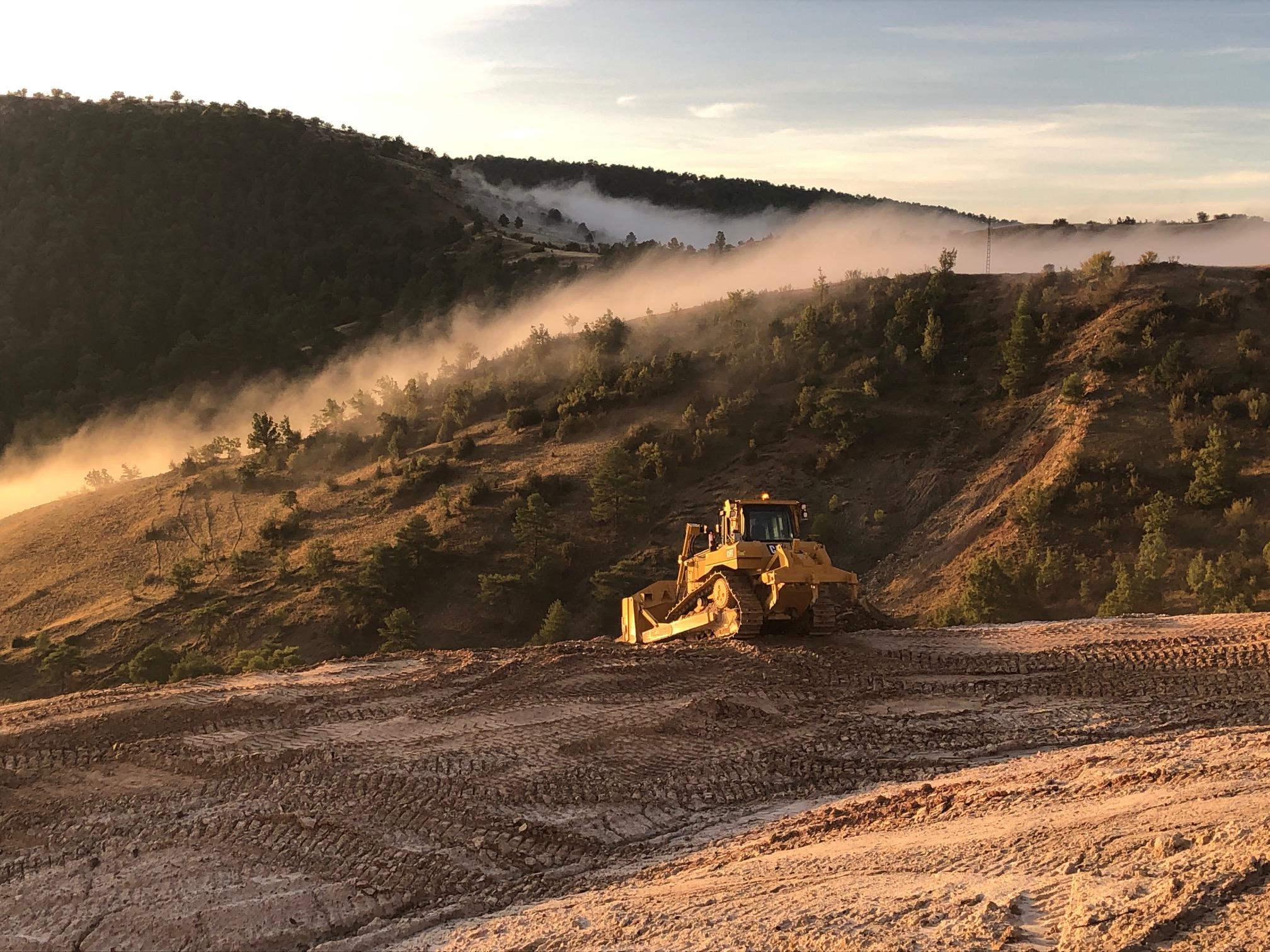 Finalização da Fase 2020 da remodelação geomorfológica na  mina de Santa Engracia