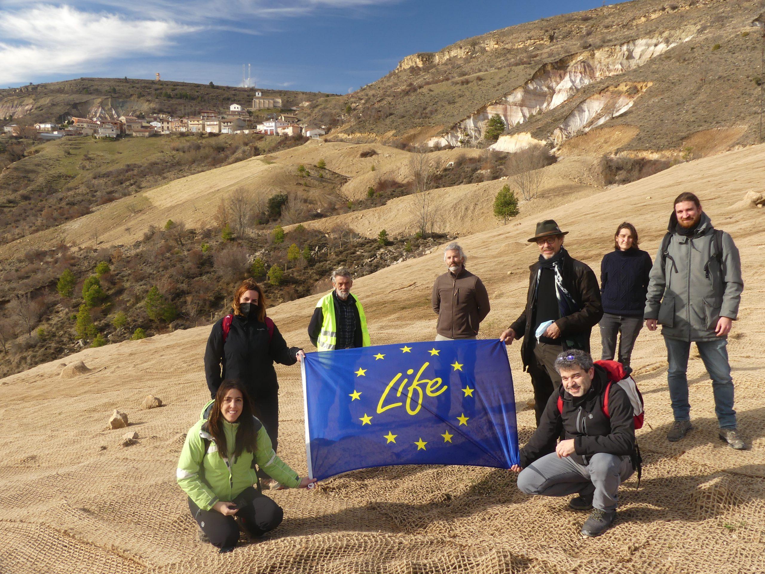 Paul Royal visita el proyecto LIFE RIBERMINE por segunda vez