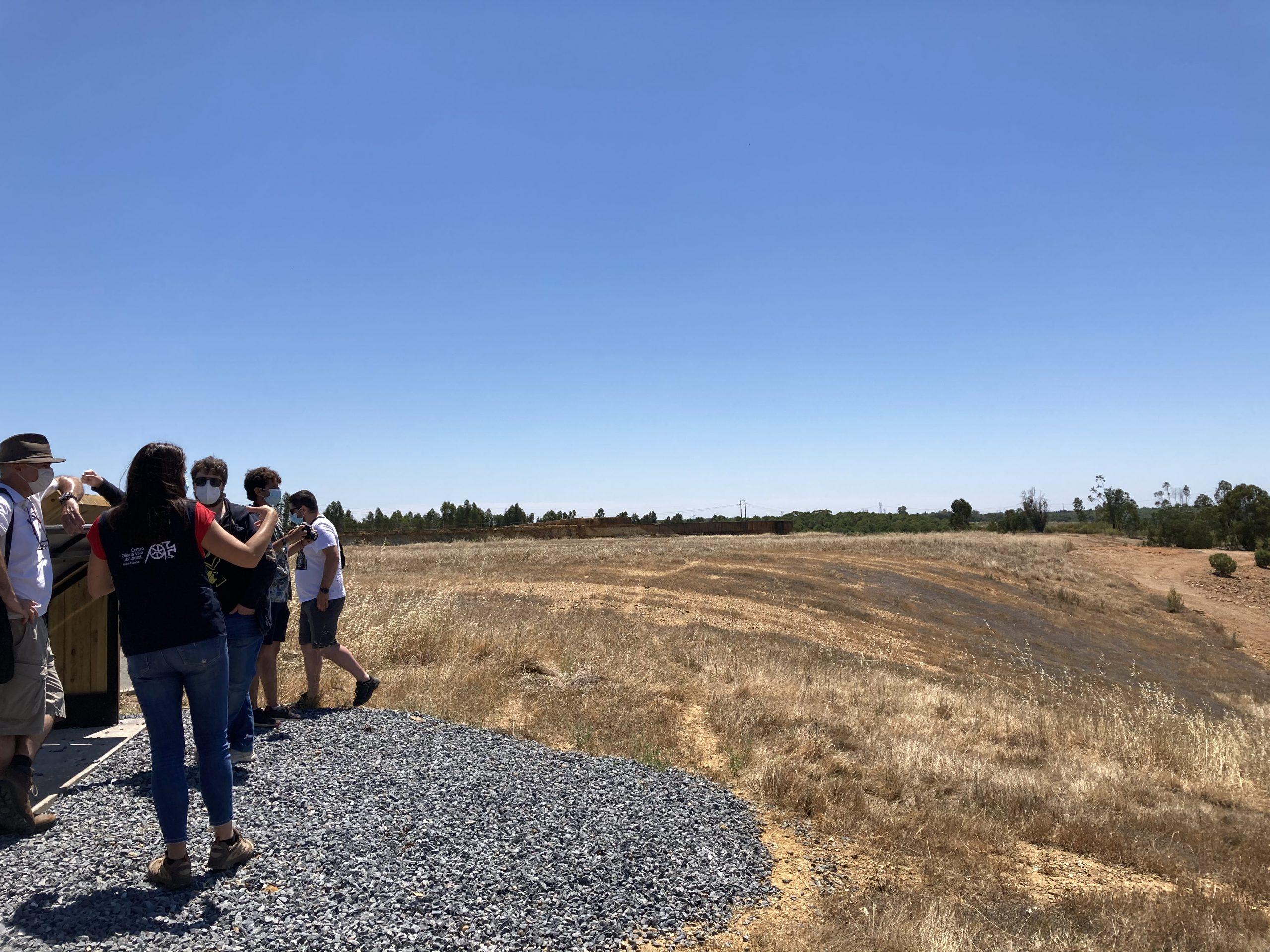 Futuros Mestres em Património Geológico da Universidade do Minho, visitam LIFE RIBERMINE no Lousal